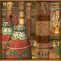 Pharaohs Hall of Glory for Pharaoh's Temple & Egyptian Pottery 3D Models 3D Figure Essentials renapd