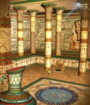 Pharaohs Hall of Glory for Pharaoh's Temple & Egyptian Pottery by renapd