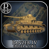 Panzer IV (Poser & OBJ) Props/Scenes/Architecture Transportation Themed RPublishing