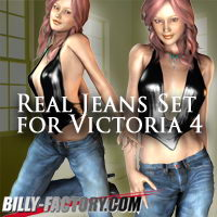 Real Jeans Set for V4 3D Figure Assets billy-t