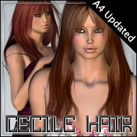 Cecile Hair  3D Figure Essentials outoftouch