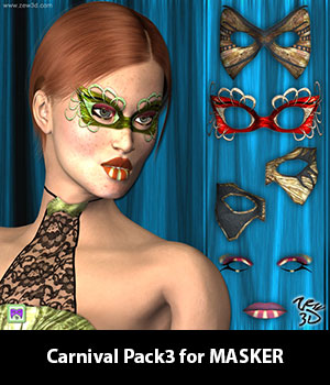 Carnival Pack3 for MASKER 3D Figure Assets zew3d