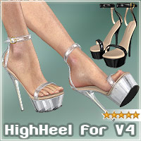 HighHeel Shoes for V4 3D Figure Assets _Al3d_