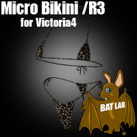 MicroBikini/R3 for Victoria4 3D Figure Essentials BATLAB