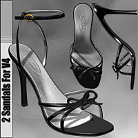 2 Sandals For V4  3D Figure Essentials idler168