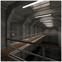 Prison Cell Block (Poser, Vue & OBJ) Props/Scenes/Architecture Themed RPublishing