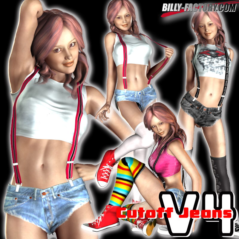 Cutoff Jeans Set for V4