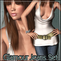 AO1: Glamour Jeans Set V4/A4/Elite 3D Figure Essentials outoftouch