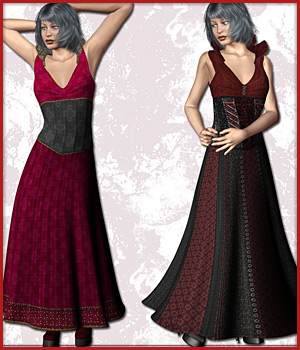 V4 Gown and HighHeels 3D Figure Assets karanta