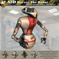 Harvey The Robot   3D Models Simon-3D