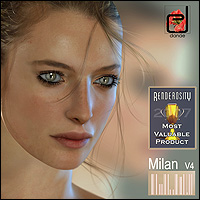 The Metropolitan Collection - Milan V4 3D Figure Assets danae