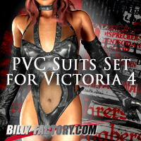 V4 PVC Suit Set 3D Figure Assets billy-t