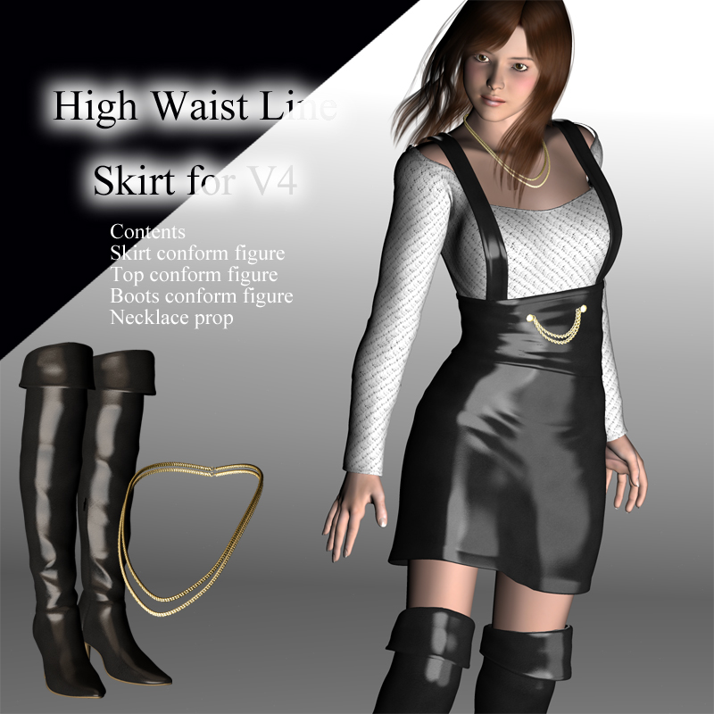 High Waist Line Skirt for V4