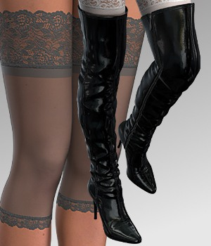 Thigh-Boot For V4 3D Figure Assets idler168