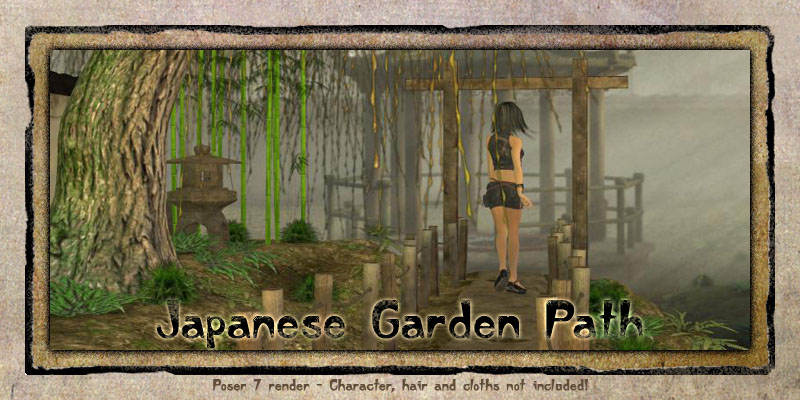 Japanese Garden Path 3D Models Vikike176