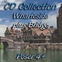 Wharfeside and Bridge Collection for Poser 4+ 3D Models Dark_Anvil