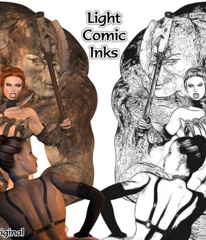 Professional Comic Actions 2D 3D Models Darkworld