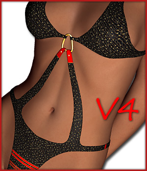 Swim Suit & 15 Styles for V4 3D Figure Assets karanta