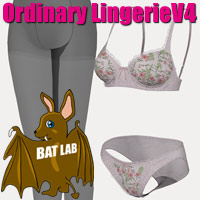 OrdinaryLingerie for Victoria4 3D Figure Essentials BATLAB