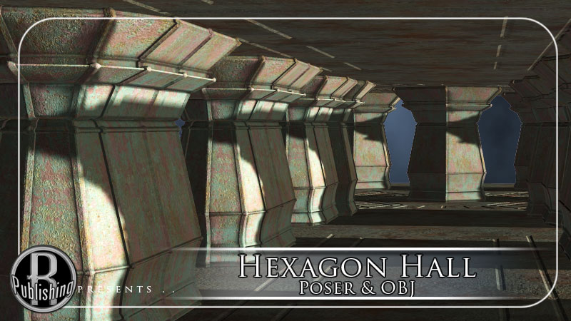 Hexagon Hall (Poser & OBJ)