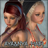 Fresh and Spring: Nya & Aya Hair  3D Figure Essentials outoftouch