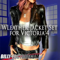 V4 WLeatherJacket Set 3D Figure Assets billy-t