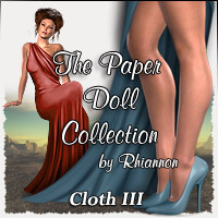 The Paper Doll Collection - Cloth III 3D Figure Essentials 2D Rhiannon