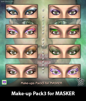 Make-up Pack3 for MASKER 3D Figure Assets zew3d