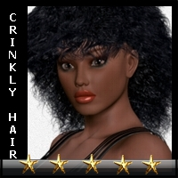 Crinkly-Hair for V4  3D Figure Essentials kaiZ