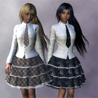 Flare Line Skirt for A3  Clothing Software kobamax