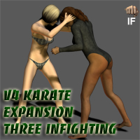 V4 Karate Basics Expansion Three - Infighting 3D Figure Essentials ayukawataur