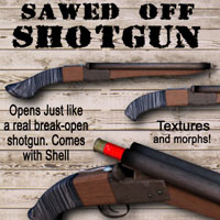 Sawed Off Shotgun Themed Props/Scenes/Architecture kalebdaark