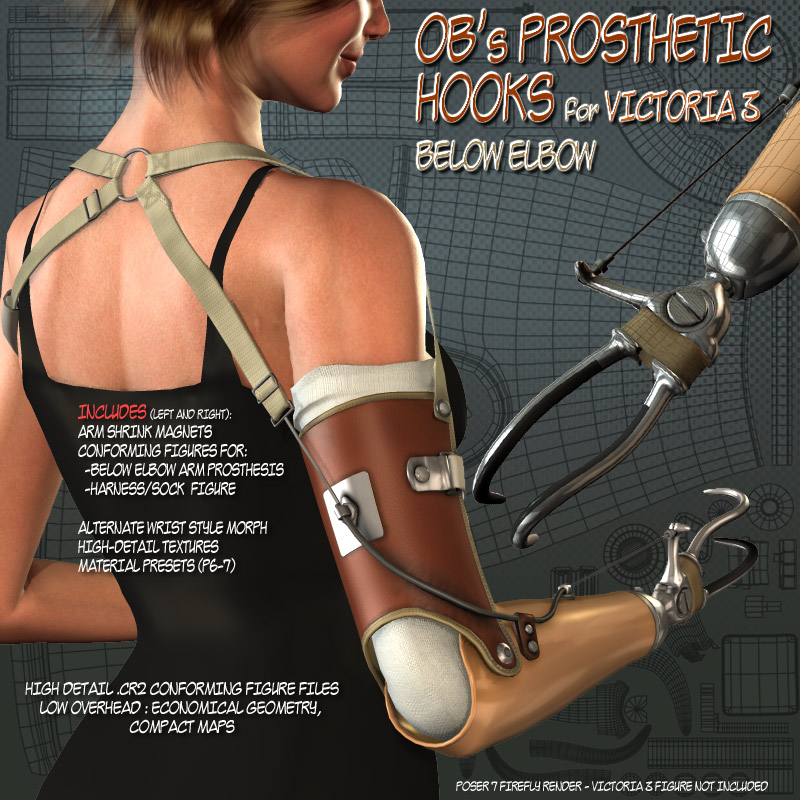 OB's Prosthetic Hooks for V3 - Below Elbow