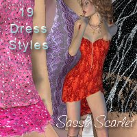 Sassy Scarlet for Pretty 3D's Scarlet Fever V4   nirvy