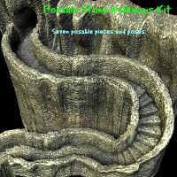 Stone Walkways Kit 3D Models edhoover