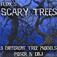 Flinks Scary Trees Themed Props/Scenes/Architecture Flink