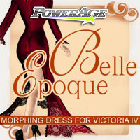 Belle Epoque morphing dress for V4 3D Figure Assets 3D Models powerage