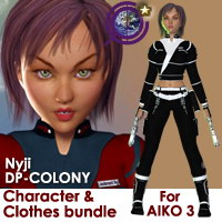 DP-Colony Nyji Pack for Aiko 3 Themed Characters Clothing Destribats