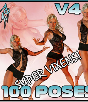 Super Vixens! V4 3D Figure Assets 3D Models Darkworld