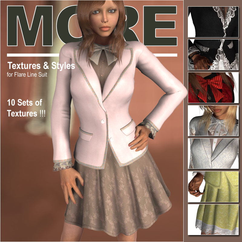 MORE Textures & Styles for Flare Line Suit