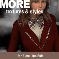 MORE Textures & Styles for Flare Line Suit Clothing Themed Software motif