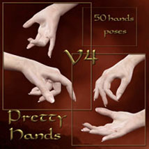 Pretty Hands for V4 3D Figure Assets ilona