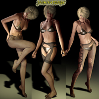 Pantyhose for Victoria 4 & Python Color Program 3D Figure Essentials jasmina