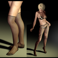 Stocking Combo Pack & Python Color 3D Figure Assets jasmina