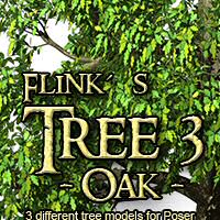 Flinks Tree 3 - Oak Themed Props/Scenes/Architecture Flink