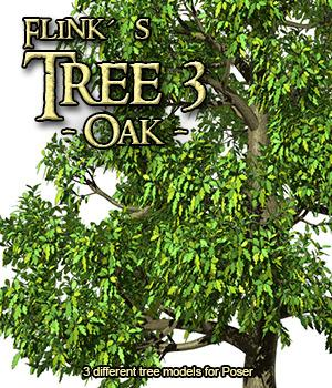 Flinks Tree 3 - Oak 3D Models Flink