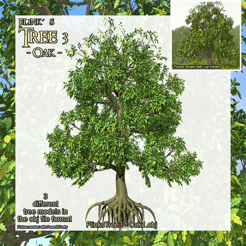 Flinks Tree 3 - Oak - obj