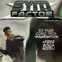 SYM FACTOR X - Comic + Bonus Model 2D And/Or Merchant Resources Themed winnston1984