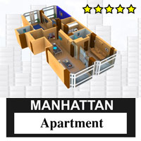 Manhattan Apartment Themed Props/Scenes/Architecture Stringy