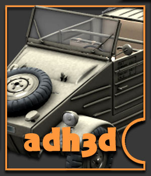WW2 Kubelwagen 82 by adh3d